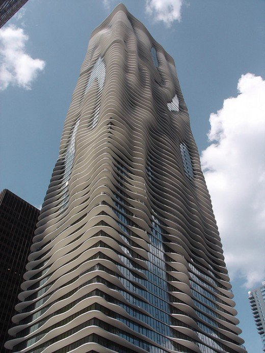 The Aqua Tower condo (Chicago). Image credit to G. Showman on Flickr (photo requires attribution)