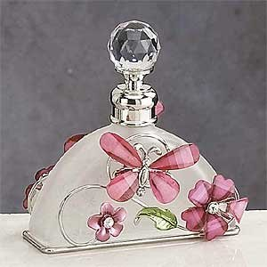 Pink Butterfly Perfume Bottle Scented Fragrance Container Decoration