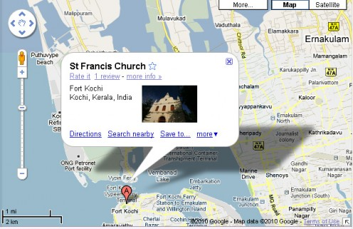 st francis church map