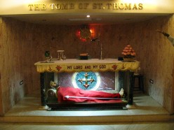alter over st thoma's tomb