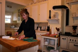 Baking bread in the restored kitchen.  This is where I stay when I return to Napa to care for my obligations.