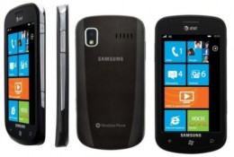 Samsung Focus, a Windows Phone 7 mobile
