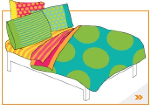 Reversible Bedding  Can be Used To Change a Bedroom.  Using comforters, pillow cases, sheets and more.