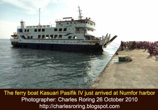 ferry boat Kasuari Pasifik at Numfor harbor