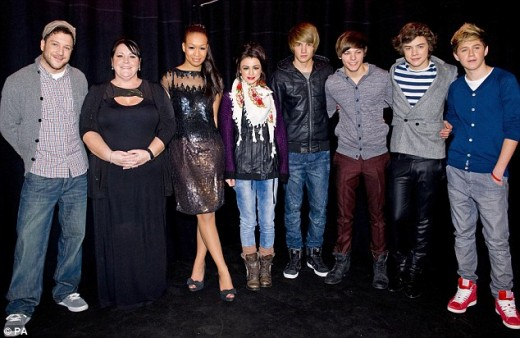 The last five acts. Mary, second from the left, was sent home in the semi final. The other four acts remain.