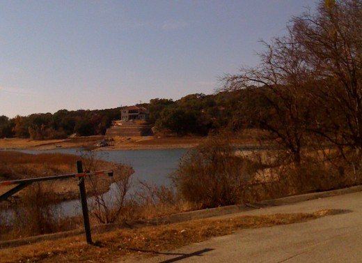 Drought conditions at Lake Travis December 2010