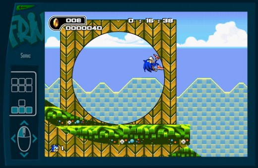 The Friv Game Window (Shown: Sonic)