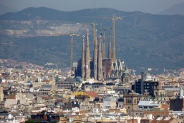 The Sagrada Familia is still under construction after a century.