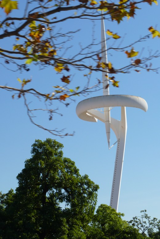 Fancy communications tower built for the Olympics