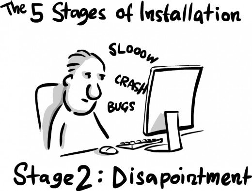 Disappointment is what hope plus reality equals. An uninstaller for this emotion would be excellent right about now.