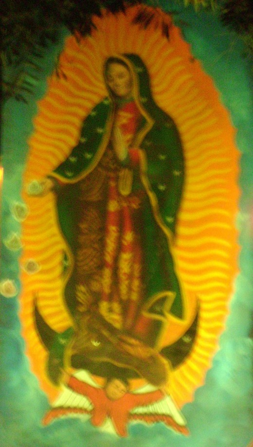 Our Lady of Guadalupe as her Image Appears on Juan Diego's Cloak