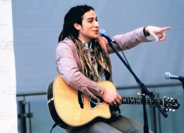 This photo of Jason Castro was taken during his Q&A session.