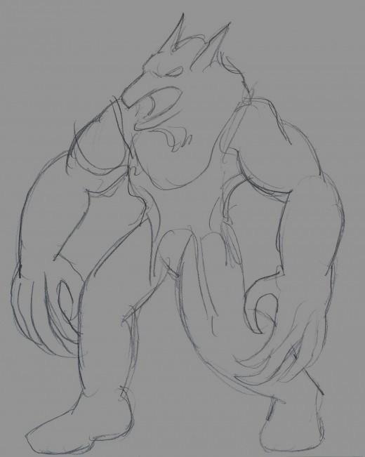 Draw a werewolf.