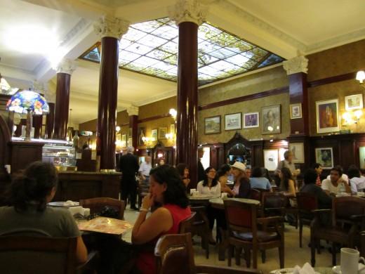 Inside of Cafe Tortoni