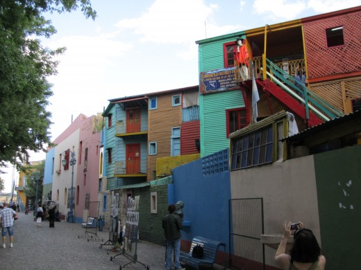 The colorful houses of the La Boca neighborhood