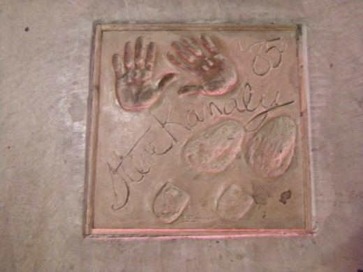Steve kanaly's autograph, hand prints and footprints