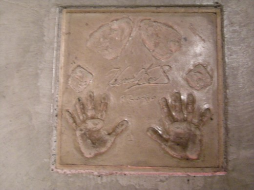 Howard Keel's autograph and handprints