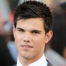 Taylor Lautner's Straight-Thick, Prim-up Style