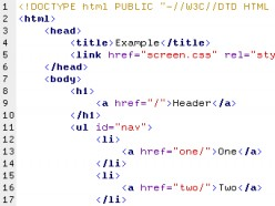 Writing in HTML Code for Web Development