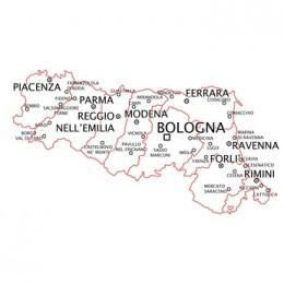Map of Emilia-Romagna Image:  Bibanesi - Fotolia.com