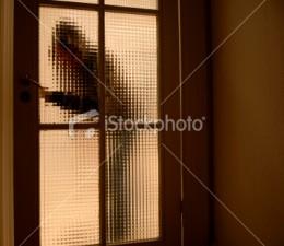 Burglar entering