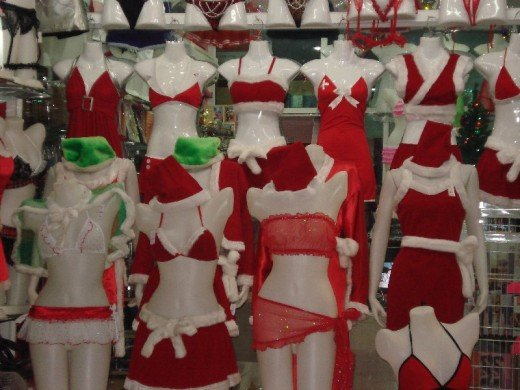 Even the Lingerie Shops take on a Christmas feel