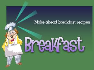 Great Breakfast Recipes
