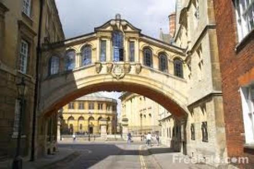 The Bridge of Sighs in Oxford, UK