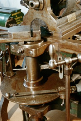 This index machine made by Robbins & Lawrence in 1850 was used for factory production until the end of WWII.  These were advanced machine tool designs for the era.