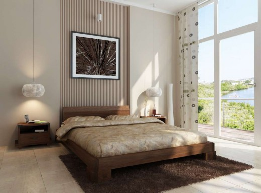 The Kobe platform bed is a truly gorgeous modern wooden bed frame.