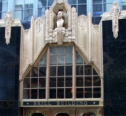 The Brill Building in New York City, which served as the launching pad for some of America's top songwriters and fueled the careers of so many of the Country's top artists