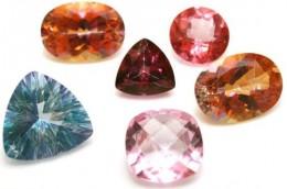 Facet Cut Topaz Gemstones in various colors, including mystic