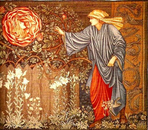 Edward Burne-Jones  The Heart of the Rose