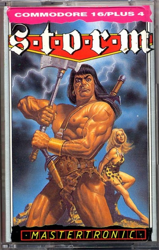 Cassette sleeve for Storm on the Commodore 16