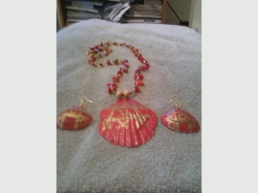 My shell jewelry is a new line to Faye's Oringinal and unsual design Hand made Jewelry.