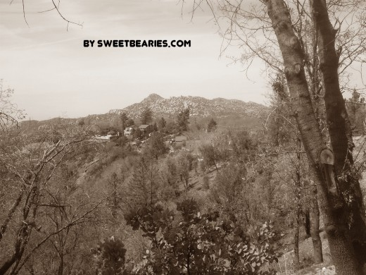 Here is a picture I took in the San Bernardino Mountains facing out towards the Pinnacles.