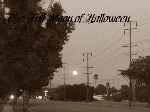 Here is a sepia Halloween scrapbook image I created. The picture I took of the rising moon was perfect for this!