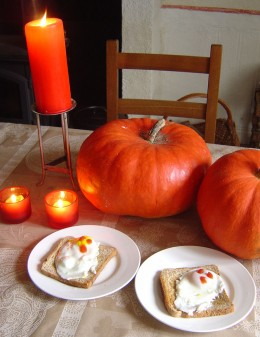 Make food fun - kids might not like poached eggs but will go wild for  'Ghosts on Toast'