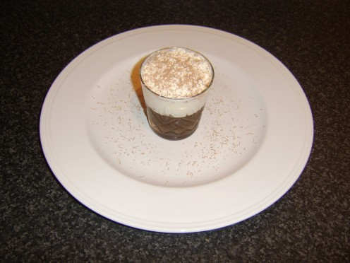 Chocolate is Grated over the Dish and Serving Plate
