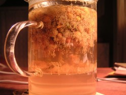 A glass of chamomile tea can help you relax.