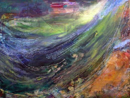 Dianne E. Shelton, A River Runs Through It, Abstract Painting