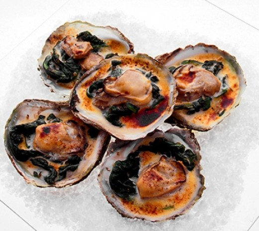 Baked oysters!