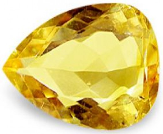 Pear (Tear Drop) Cut Golden Yellow Imperial Topaz
