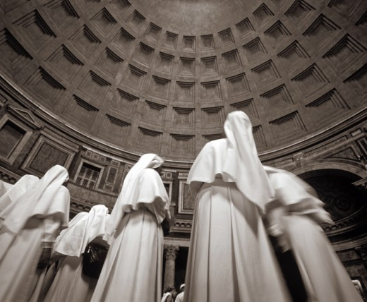 Nuns in Cathedral in Italy