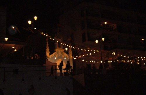 San Marcos beach on the night of San Juan