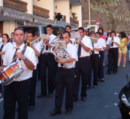 Brass band at Fiesta del Carmen celebrations