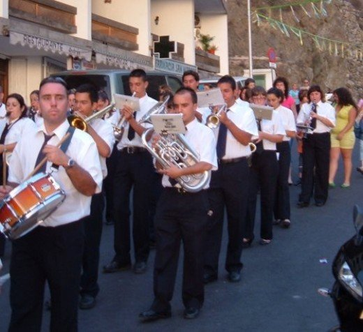 Brass band at Fiesta del Carmen celebrations