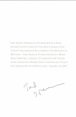 Ted Sorenson autograph. He was President Kennedy's speechwriter and worked with Schlesinger Jr. at the White House. Sadly Sorenson died this year.