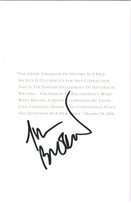 Tom Brokaw autograph. He was the anchor and managing editor of NBC Nightly News from 1982 to 2004.