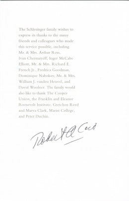 Robert Caro autograph autograph. Renowned historian and author. Check him out. Caro has won many prizes for his writing.
